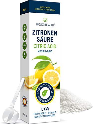 Citroenzuur poeder in levensmiddelenkwaliteit 900 g - geschikt als ontkalker in het huishouden