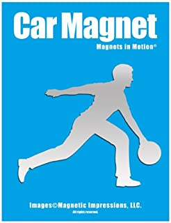 Bowler Male Car Magnet Chrome