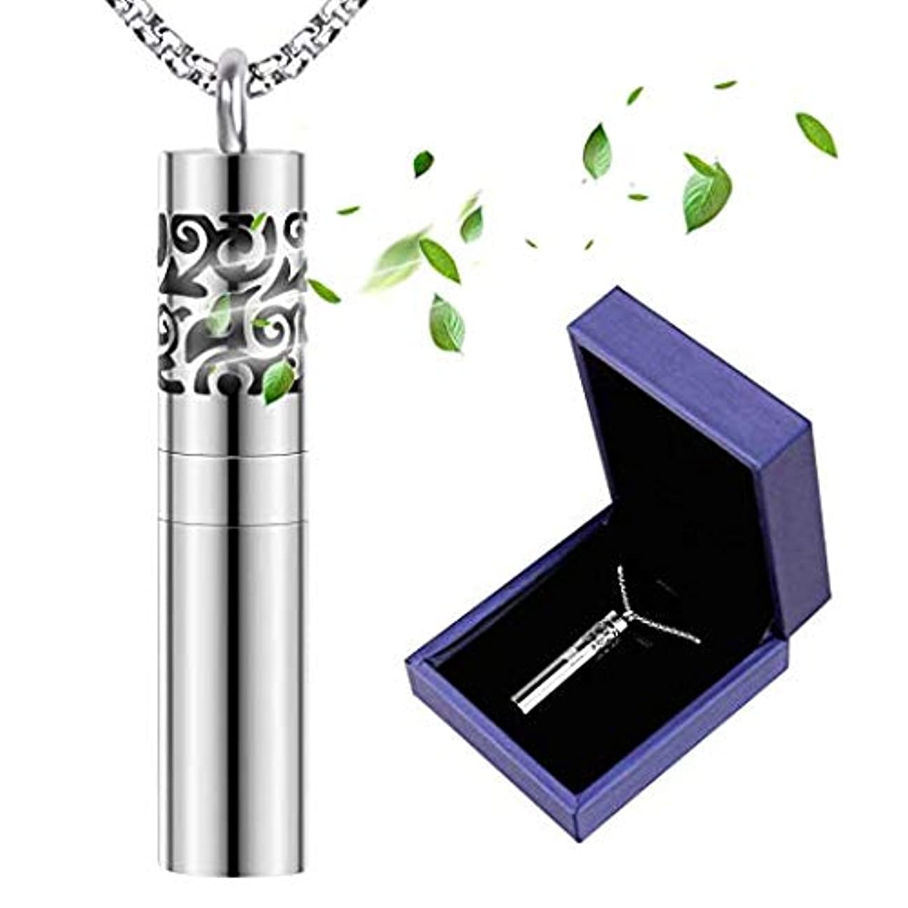 Birthday Gifts for Women, Romanda Diffuser Necklace with Dispenser and Container Stainless Steel Aromatherapy Essential Oil Diffuser Pendant Locket Necklace with 8 Pad Jewelry for Women Valentine Day