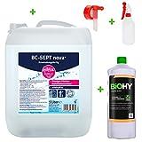 BIOHY Eilfix Home BC-Sept Nova Desinfección de Superficies Lista para Usar Bote de 5 L + Grifo + jabón Crema 1L + Botella pulverizadora - Desinfectante de Superficies sin Perfume para Todas Las