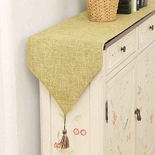 LY88 Rectangular Table Runner Polyester Fabric Home Decoration for Party Wedding Q 30x220cm