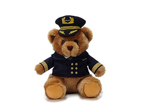 Plüschbär mit Pilotenuniform / Plush Bear with Pilot uniform 22cm