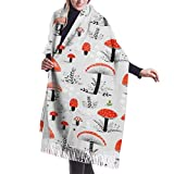 Bufanda de cachemira para mujer, grande, cálida, bufanda de cachemira Setas de dibujos animados Talla