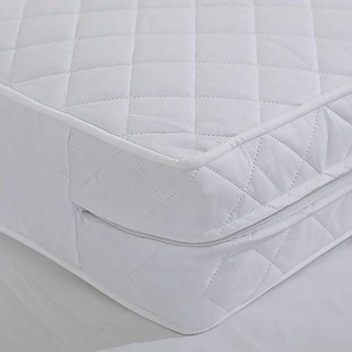 MHG Living Comfortable Toddler and Baby Cot Bed Mattress Quilted Extra Thick Depth, Breathable Cot Mattress (140 x 70 x 13 cm)