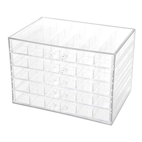 Stockage Accueil 120 Grids Nail Art Transparent Décoration Boîte de Rangement Strass Perles Accessoires Conteneur for Cas manucure Outil