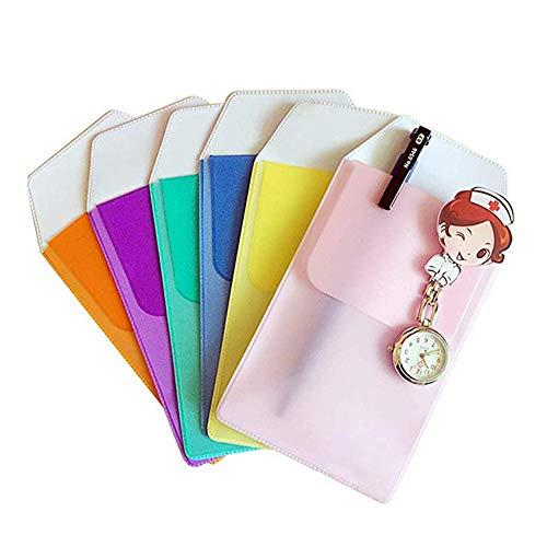 LAMEIDA. Porta Lápices Protector de Bolsillo para Camisas, Bolígrafo, Escuela, Hospital, Oficina para Fugas de Bolígrafo 6pcs(Color al azar)