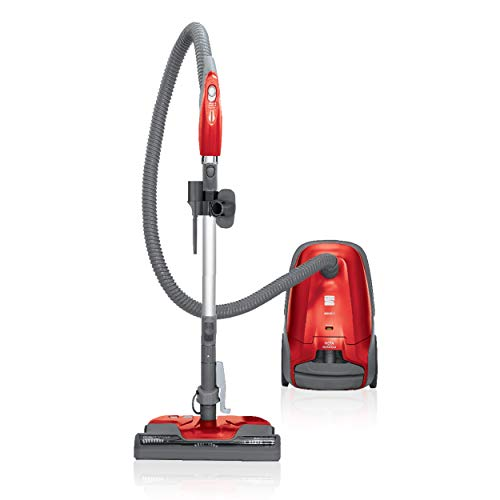 Kenmore 81414 400 Series Pet Friendly Lightweight Bagged Canister Vacuum with Extended Telescoping Wand, HEPA, Retractable Cord, and 4 Cleaning Tools, Red