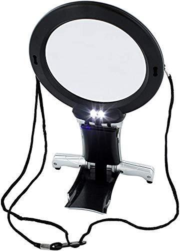 Crafters Dream Lupa 2 en 1 manos libres - Lámpara de escritorio y cuello ideal para costura y manualidades.