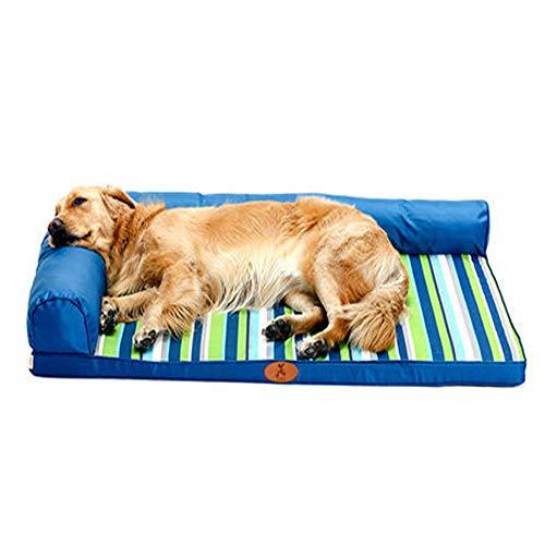 Orthopädische Haustier Schlafsofa, der Zwinger abnehmbar und waschbar Vier Jahreszeiten Universal Golden Hair Teddy Hundebett Nest Mat Summer Cool