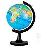 Wizdar 5.5' World Globe for Kids Learning, Educational Rotating World Map Globes Mini Size Decorative Earth Children Globe for Classroom Geography Teaching, Desk & Office Decoration-5.5 inch