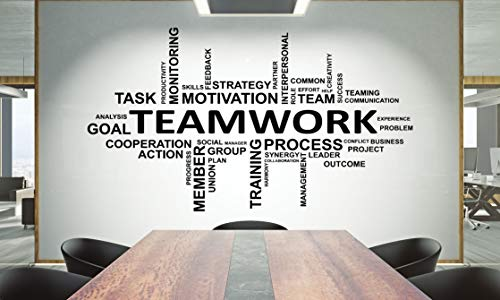 Büro Wandtattoo Teamwork Zitat Wandaufkleber Büro Dekor Inspirieren Büro Zitat Motivation Idee Wandkunst 1552re