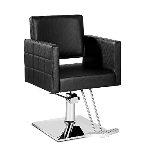 Paddie Salon Chair for Hair Stylist, Hydraulic Barber Chair Classic Styling Beauty Spa Equipment, Black