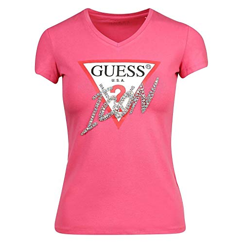 Guess SS Vn Icon tee Camiseta, Rossol, XS para Mujer