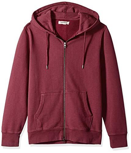 Amazon Brand - Goodthreads Men's Fullzip Fleece Hoodie, Burgundy, X-Small