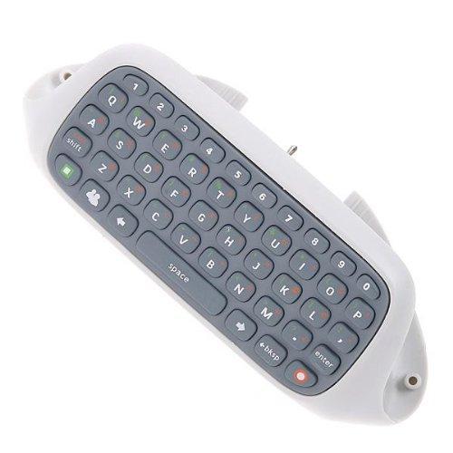 OSTENT Teclado Chatpad Compatible con Microsoft Xbox 360 Controlador Gamepad Windows Live Video Juegos Color Blanco
