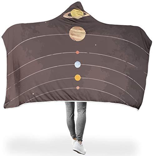 Dofeely – Manta para el Sistema Solar de Personalidad, con Capucha, Suave y Suave, para el Invierno, para Adultos, poliéster, Blanco, para Galaxy S3