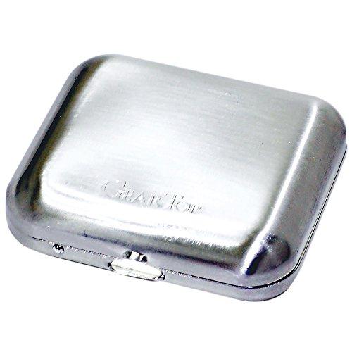 GEAR TOP(ギア トップ) 日本製 携帯灰皿 タバコ置きスタンド付き ダイヤシルバーサテーナ GT-100 DS