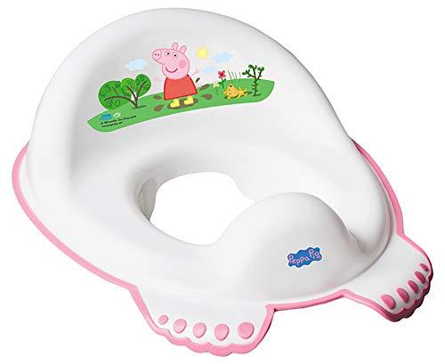 Tega Baby ® Toilettensitz für Kinder Erste Toilette WC-Sitz Rutschfest Sicher Stabil und TÜVRheinland-geprüft | 1 bis 4 Jahre | Töpfchen für Kinder Toiletten Trainer, Motiv:Peppa Pig - rosa