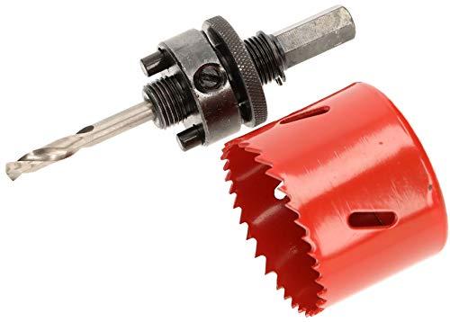 KOTARBAU Sierra de corona x mm HSS con broca de centrado, corona de perforación, sierra circular para metal, acero inoxidable, madera, plástico (57 mm)