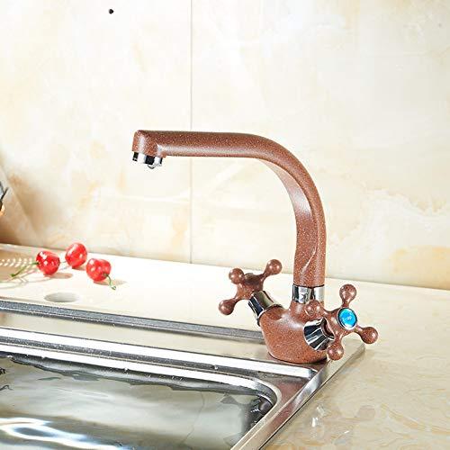 LCBLC Brown Camber Kalt- Und Heißwasserhahn Bad Waschbecken Wasserhähne Waschtisch Waschbecken Mischbatterie Kupfer Wasserhähne