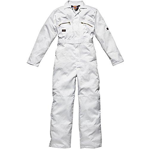 Dickies Redhawk Herren Arbeits-Overall mit Reißverschluss vorne (Brustumfang 117 cm, Bein Reg) (Weiß) - 46 R EU / UK