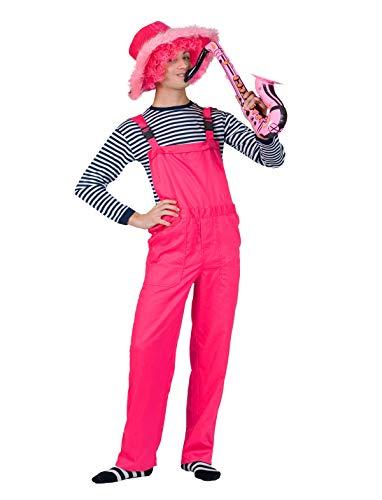 Generique - Neon-Latzhose Overall für Erwachsene pink - S