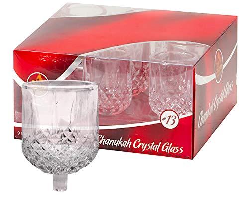 Chanukkah Menora Ölbecher - Kristall Elegante Halter für Chanukah Menora Öl oder Shabby Öl Kerzen - Langlebige Qualität - Langlebig