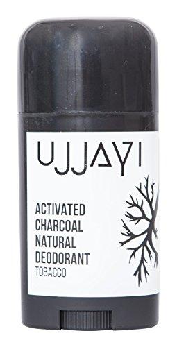 Ujjayi Boutique Natural Deodorant, Tobacco Charcoal Deodorant, Aluminum free