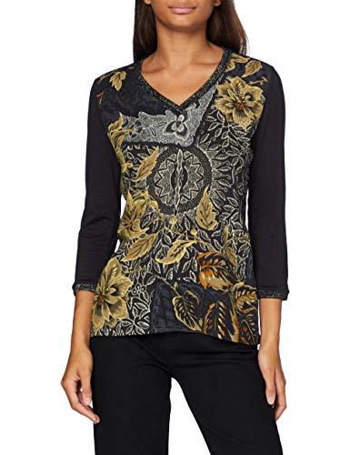 Desigual TS_Idaho Camiseta, Azul, XL para Mujer
