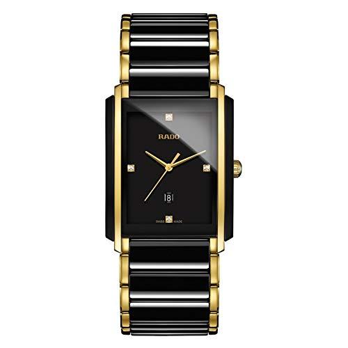 Rado Integral Jubile Herren-Armbanduhr, zweifarbig, schwarze Keramik und goldfarben