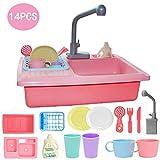 PowerBH Kinder so tun, als ob Spielzeug aus Kunststoff analoge elektrische Spülmaschine automatische umlaufende Spüle Geschirrspülmittel Spielzeug Küchenspüle Lernspielzeug