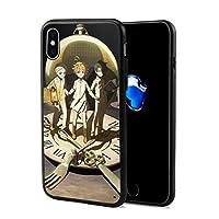 約束のネバーランド iPhone X ケース ソフト TPU 耐衝撃 衝撃吸収 薄型 軽量 Qi充電対応 全面保護 指紋防止 レンズ保護 アイフォンX ケース 5.8インチ対応