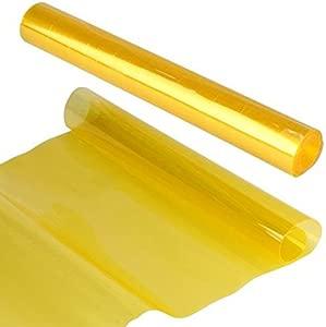 UEETEK Car Tail Fog Head Light Headlight Tint Film Cover 30x180cm  Yellow