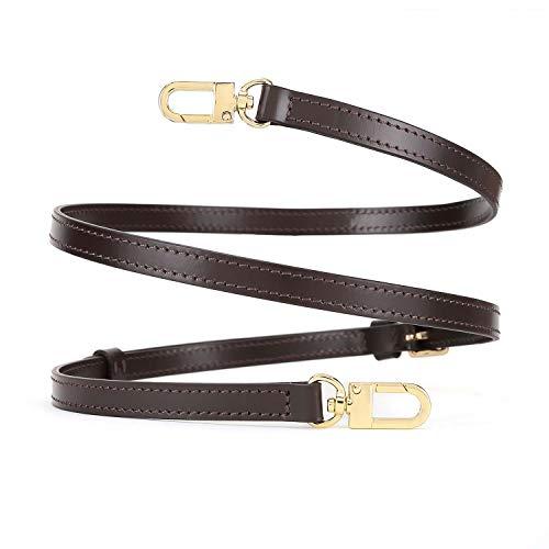 Crossbody Strap for Small Bags Pochette Mini NM Eva Damier Favorite PM MM Alma BB (Brown Width 1.2cm(0.47inch) Gold)