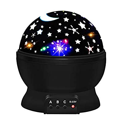 ATOPDREAM Star Night Lights for Kids, Star Night Light Projector for Kids Toys for 2-10 Year Old Boys Birthday Gifts Age 2-10 Blackness TSUKXK06