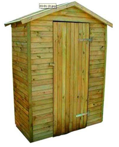 naturholz-shop Geräteschuppen Gartenhaus 175 x 95x 216 cm Holz Einzeltür 16 mm