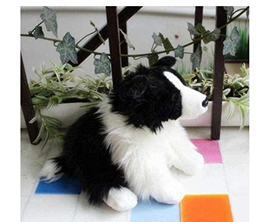 NC60 Quali Lindo Animal Suave Border Collie Juguete de Felpa 30 cm Mini Mascota Animal Perro Pastor para niños Regalo decoración Accesorios Navidad GIF