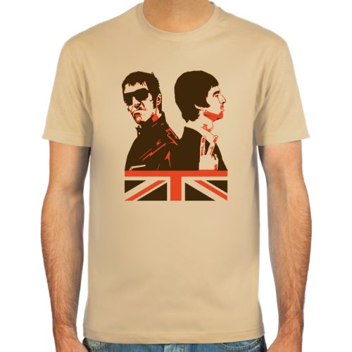Pixda Maglietta Liam & Noel Gallagher ::: Colore: Blu, Beige o Bianco ::: Taglie: S-XXL (Britpop)
