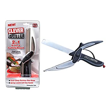 Allstar Innovations Clever Cutter 2-in-1 Food Chopper - Replace your Kitchen Knives and Cutting Boards
