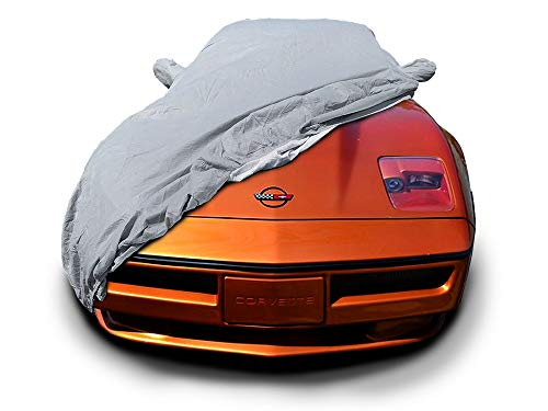 MFK CarsCover Custom Fit C4 1983-1996 Chevy Corvette Car Cover for 5 Layer Heavy Duty Waterproof Ultrashield