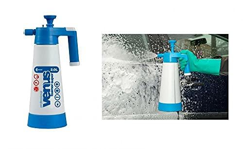 Kwazar 2019 er Modell mit 3 Schaumdüsen Venus Super Foamer Cleaning Pro+ Viton 2 Liter inkl. 2 extra Foam Düsen im Set mit detailmate Messbecher