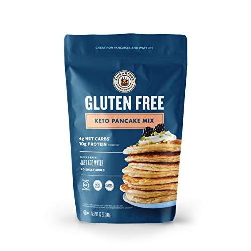 King Arthur, Gluten Free Keto Pancake Mix, Certified Gluten Free by The GFCO, Certified Kosher, Sourced Non-GMO, 12 Ounces