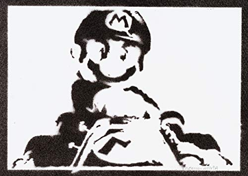 Poster Mario Kart Grafiti Hecho a Mano - Handmade Street Art - Artwork