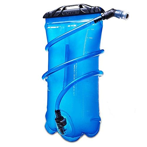 QUXING Bladder Bag 1.5L 2L 3L Sport Hydration Bladder Foldable PEVA Outdoor Water Bag For Trail Running Camping Hiking Marathon Cycling (Size : 3 L)