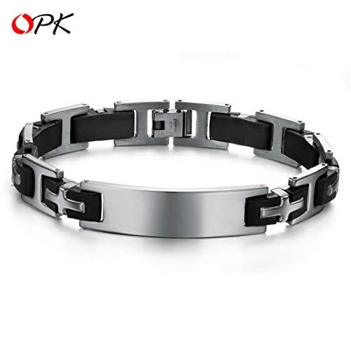 XUEE gepersonaliseerde armband armband met roestvrij staal hoogglans gepolijst graveren plaat lederen armband voor mannen vrouwen
