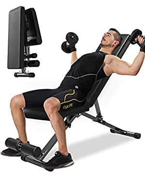BIANHUA Incline Weight Bench,with Leg Extension and Leg Curl,Strength Training Bench for Full Body,Utility Weight Bench for Full Body Workout.