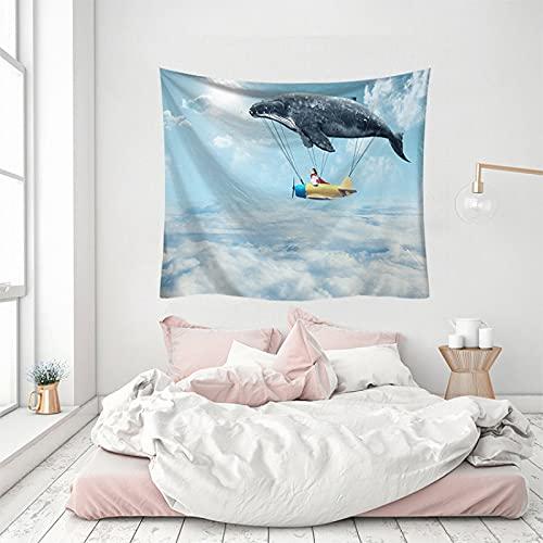 NHhuai Arazzo, da Parete, Decorazione Domestica, per Il Soggiorno o la Camera da Letto, Arte della Balena Che appende la Parete della Decorazione della casa del Panno