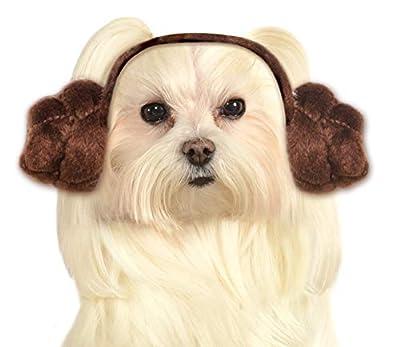 Star Wars Dog Headband Princess Leia Buns, Medium and Large from Rubies Costume Company