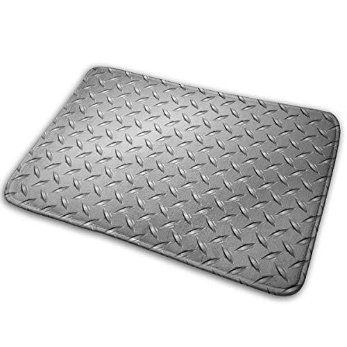 Fußmatten graues Drahtzaun-Design-Netz-Display mit Diamant-Platteneffekten Chrom-Kitsch-Motivdruck Silber-Fußmatten
