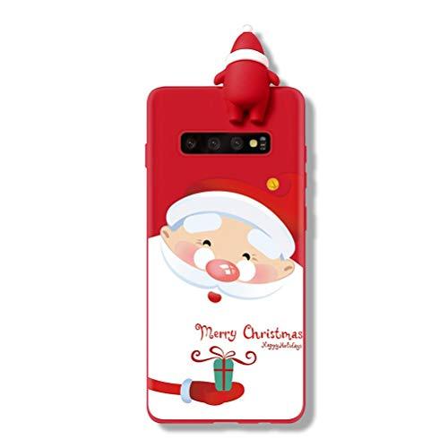 Yoedge Funda para Samsung Galaxy A50, Silicona Cárcasa 3D Doll Toy Muñeca Navidad con Dibujos Antigolpes de Diseño Suave TPU Bumper Case Fundas para Movil Samsung Galaxy A30S. (Regalo)